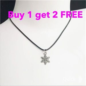 Jewelry - Snowflakes Necklace choker -1pc